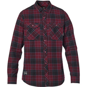 Fox Traildust 2.0 LS Flannel Top Men, cranberry